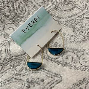 Jewelry - Blue Topaz Gold Hoops